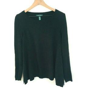 Ralph Lauren Black Knit Long Sleeve Sweater Small